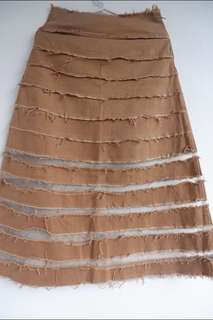 Long skirt with net