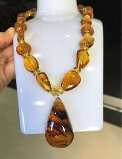 Burmite Amber necklace