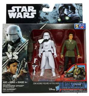 2016 Star Wars Rogue One First Order Snowtrooper Poe Dameron 2pack Force