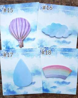 [N]Watercolours post it sticky notes
