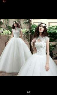 High Quality Lace Embroidery Women Wedding Gown Bridal Dress