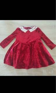Suede Baby girl dress