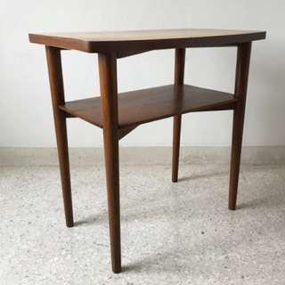 Vintage Mid Century Tall Side Table with Original Formica Top