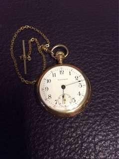 古董 華爾頓包金懷錶