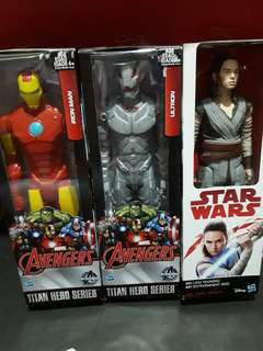 Avengers Titan Hero Series Iron Man, Ultron and Star Wars Rey