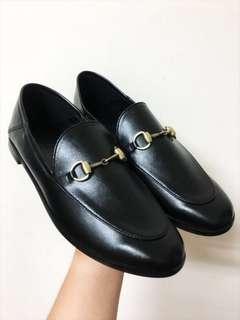 🚚 Gucci類似款 牛皮包鞋 低跟 懶人鞋 踩腳鞋