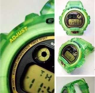 出售 日版 CASIO G-Shock DW6925 25周年限定版 透明翠緣色 98%新