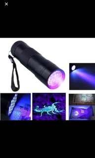 9 LED UV black flight flashlight LED bright Aluminum Alloy body