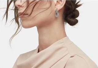 明星款純銀實心耳環