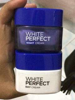 LOREAL WHITE PERFECT DAY & NIGHT CREAM