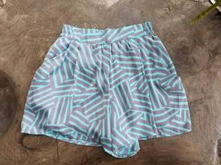 Imported Blue & Gray Shorts
