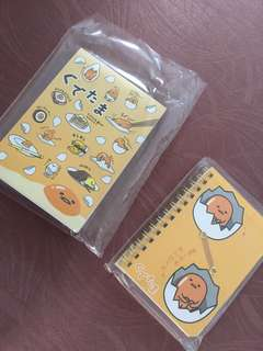 GUDETAMA NOTE PAD AND NOTE BOOK