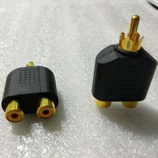 Gold Plated RCA Adapter Splitter