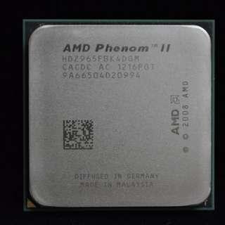 🚚 正式版AMD Phenom II X4 965 四核 黑盒版無鎖頻 ( AM3 / 938 / 3.4G / 6M )