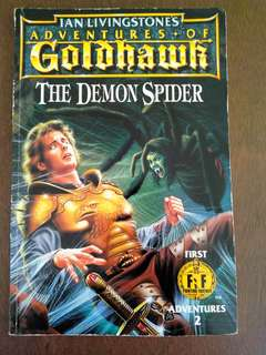 RARE!! Fighting Fantasy Adventures of Goldhawk - The Demon Spider by Ian Livingstone