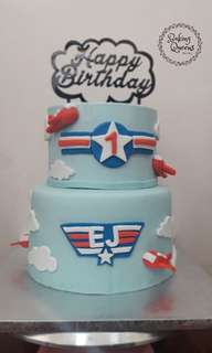 Airplane theme Cake