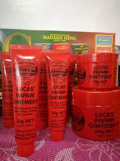 Lucas' Papaw Ointment 25g 75g 200g