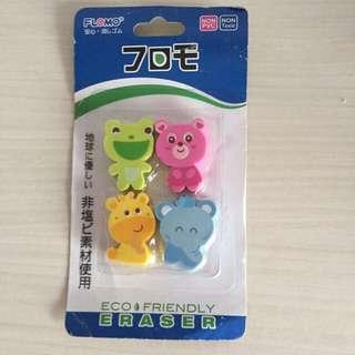 🚚 GSS 🌈 Eco friendly Animals Erasers Set