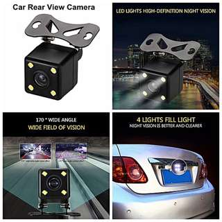 Universal Waterproof Rear View Camera Wide Angle Car Back Reverse Camera 4 LED Light Night Vision Parking Assistance Camera