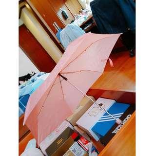 🚚 糖果色輕巧方便摺疊雨傘-粉