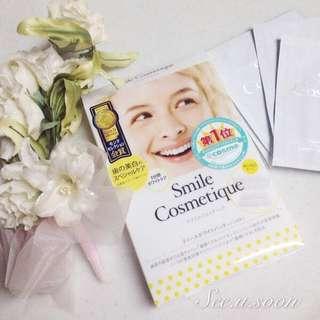 👑COSME大賞第一位  ✨Smile Cosmetique 美白牙齒貼片 6片