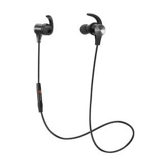 35.Bluetooth Headphones, TaoTronics Wireless 4.2 Magnetic Earbuds, Snug Fit for Sports with Built in Mic TT-BH07 (IPX6 Waterproof, aptX Stereo, 6 Hours Playtime, cVc 6.0 Noise Cancelling Microphone)
