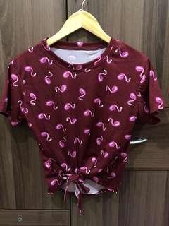 BRAND NEW: Maroon Flamingo Top