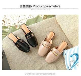 🚚 新款時尚平底低跟涼拖鞋 34-39 (共2色)