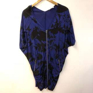 Tsesay blue and black dress size XS
