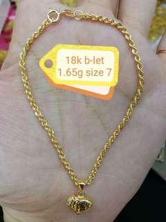 Saudi Gold 18k Braclet