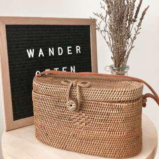 🚚 [IN-STOCK] Harper Wicker Basket Rattan Bag