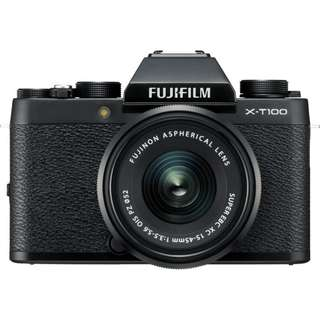 Brand New Fujifilm X-T100 Mirrorless Digital Camera with 15-45mm Lens (Free 32GB SD Card )
