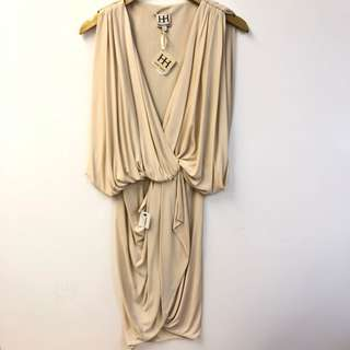 斯文裙 New Haute hippie beige dress size XS