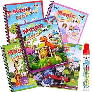 Magic Water Drawing Coloring Book Water Doodle Painting