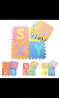 10pcs alphabet foam mat