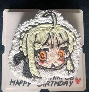 動漫彩繪蛋糕 一磅