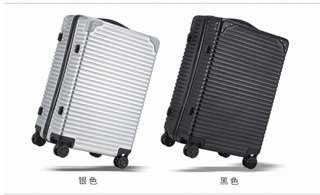 100%全新 ELLE 行李箱 24吋 黑色/銀色