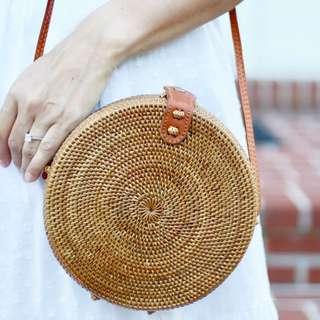 🚚 [IN-STOCK] Carmen Wicker Round Rattan Bag