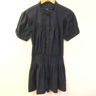 See by chloe navy shorts jumpsuits size 38