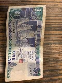 Singapore $1