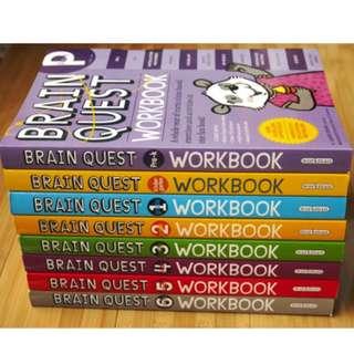 BRAIN QUEST WORKBOOK (7 IN A SET)