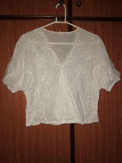 White Lace Oversized top