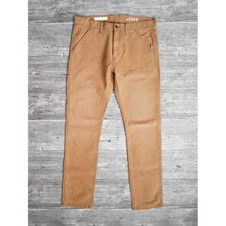 34腰 Gap Slim 窄管 窄版 美國休閒領導品牌 深卡其 帆布丹寧 復古工裝褲 工作褲 二手