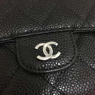 Chanel 荔枝皮長銀包