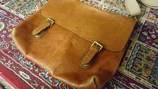 Vintage Mulberry leather messenger bag