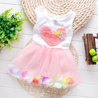 Pink Baby Girl Floral Dress