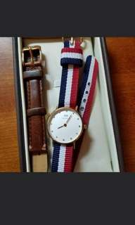 Daniel Wellington 手錶 (2條錶帶)