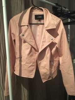 Valley girl leather biker jacket