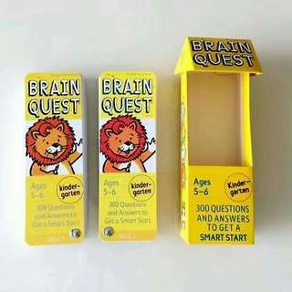 4 DIFFERENT SETS BRAIN QUEST (300 & 350 Questions Cards) Ages 3 to 6