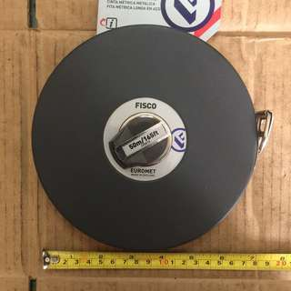Fisco Euromet Measuring Tape 50m/165ft (Made in England)